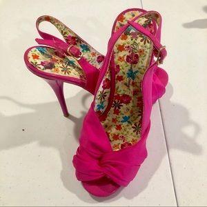 Penny loves Kenny | Pink Slingback Open Toe Heels